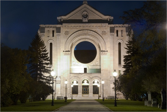 St Boniface Cathedral's facade