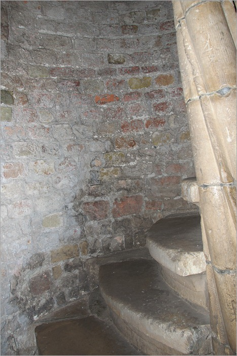 Stairs leading to the roof
