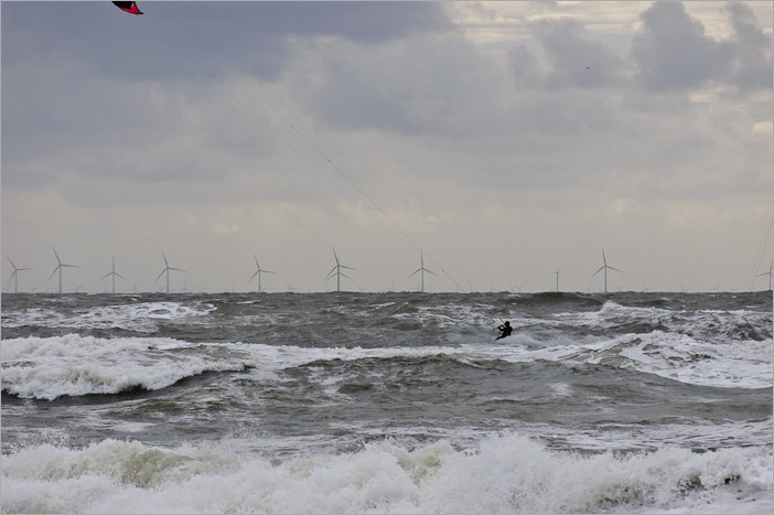 Windmills and kite surfing