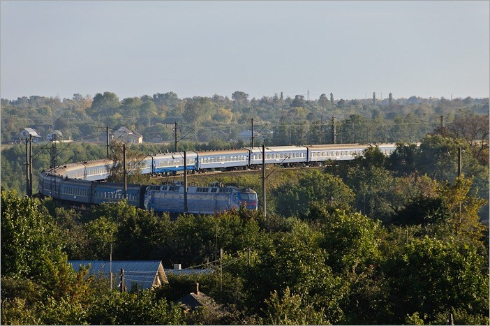 Huge trains in Ukraine