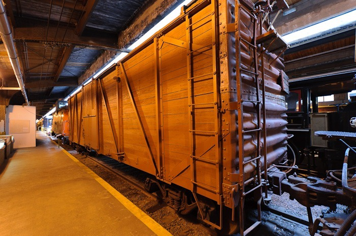 Wooden baggage car #77573, built in 1922