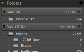 Lightroom accesses multiple drives